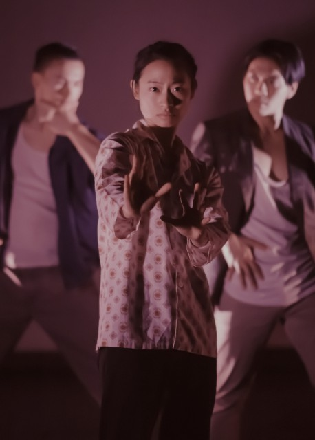 Michelle Lui, Alex Tam and Milton Lim in NINEEIGHT image by Sepehr Samimi